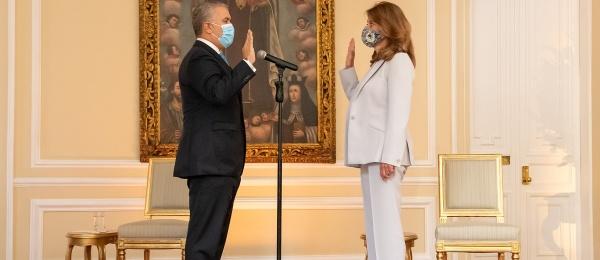 Vicepresidenta Marta Lucía Ramírez se posesionó como Canciller ante el Presidente Iván Duque